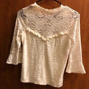 Express lace bell sleeve shirt